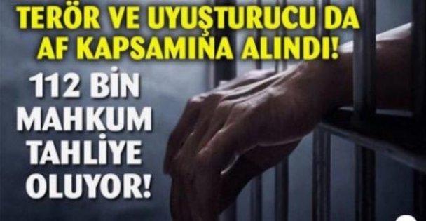 112 bin mahkum yararlanacak