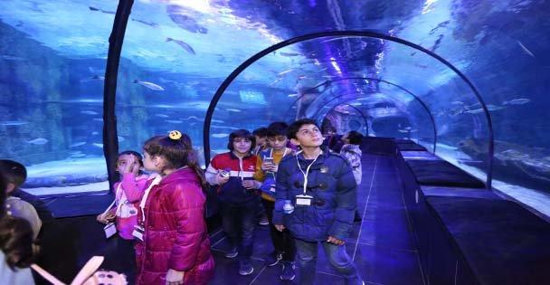 150 Öğrenci Akvaryumunu Ziyaret Etti
