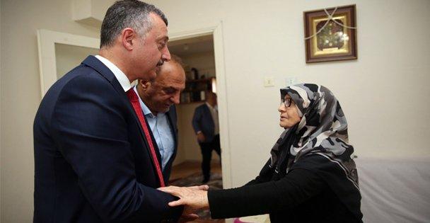 15 Temmuz Şehidi Edip Zenginin  ailesini ziyaret etti