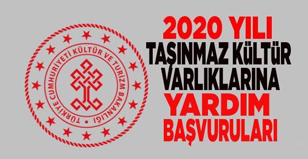 2020 Taşınmaz Kültür Varlıklarına Yardım