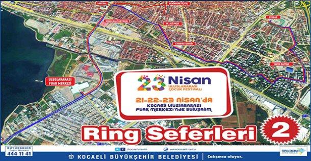 23 Nisan Uluslararası Çocuk Festivali için ring seferleri