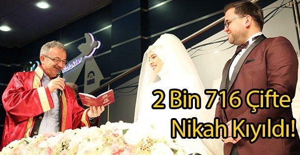 2 Bin 716 Çifte Nikah Kıyıldı!