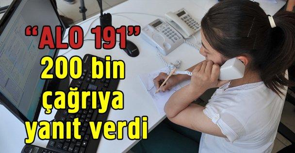 ALO 191' 200 bin çağrıya yanıt verdi