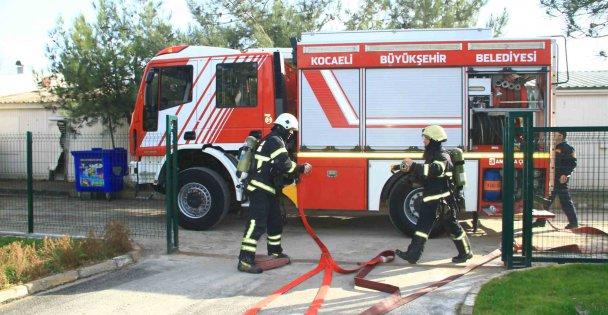 Ambulans Komuta Merkezi'nde gerçeği aratmayan yangın tatbikatı