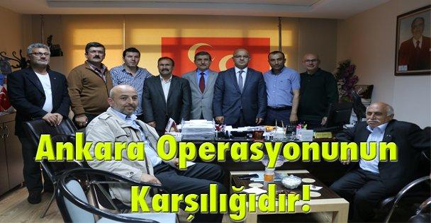 Ankara operasyonunun karşılığıdır!