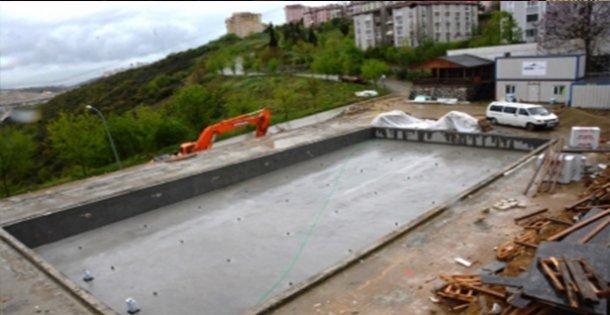 Aquapark Yapımı Hızla Devam Ediyor