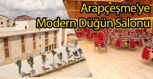 Arapçeşme'ye Modern Düğün Salonu