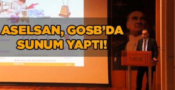 ASELSAN, GOSB'da sunum yaptı!