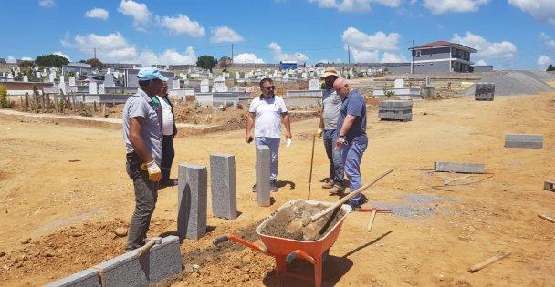 Balçık Mezarlığı hizmet binası tamamlanıyor