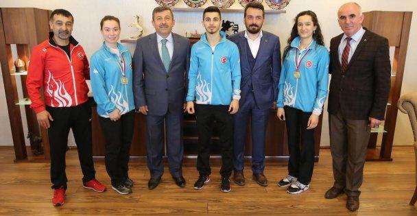 Balkan şampiyonlarını konuk etti