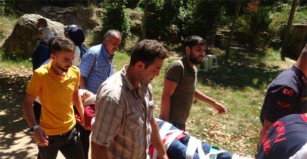 Ballıkayalar'da kayalıklardan düşen çocuk yaralandı