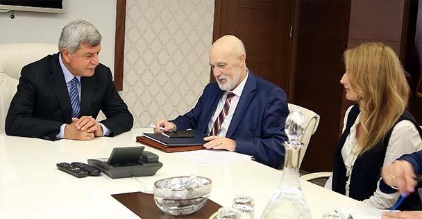 Başkan, Belarus Başkonsolosunu ağırladı