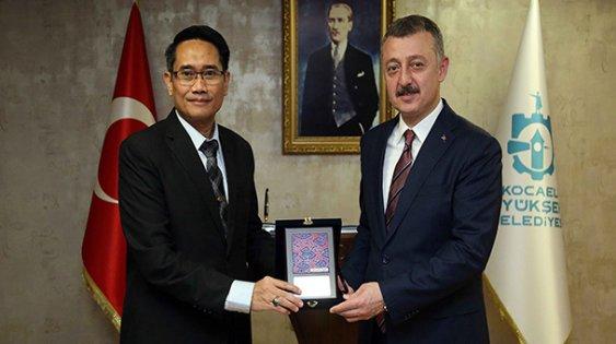 Başkan Büyükakın, Endonezya Başkonlosu'nu ağırladı
