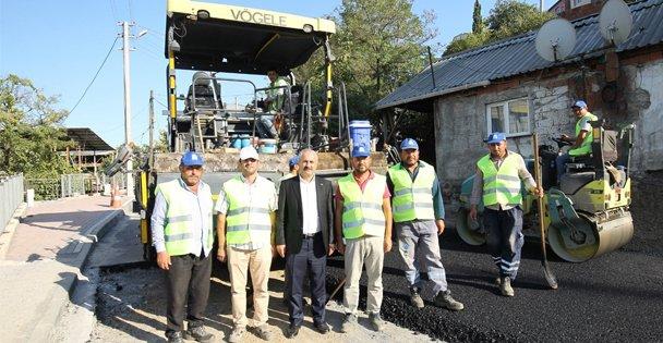 Başkan Büyükgöz asfalt çalışmasını yerinde inceledi
