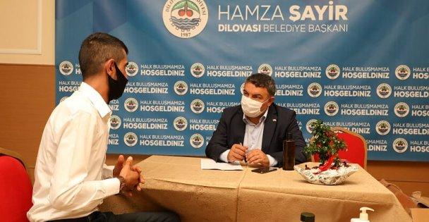 Başkan Şayir, vatandaşı dinliyor!