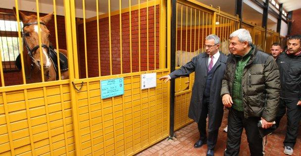 Başkanlar Atlı Binicilik Merkezini inceledi