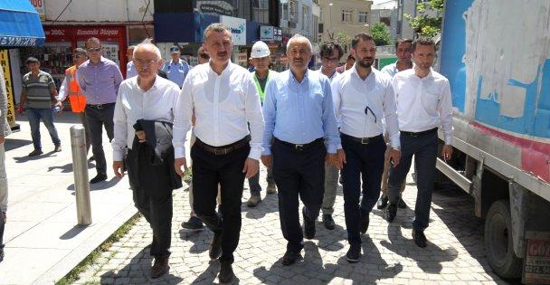 Başkanlar Eskiçarşı esnafını ziyaret etti