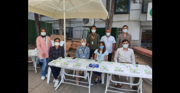 Belediye Önünde Randevusuz Aşı