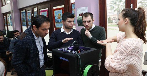 """Bilgi evlerine """"3D yazıcı teknolojisi"""""""