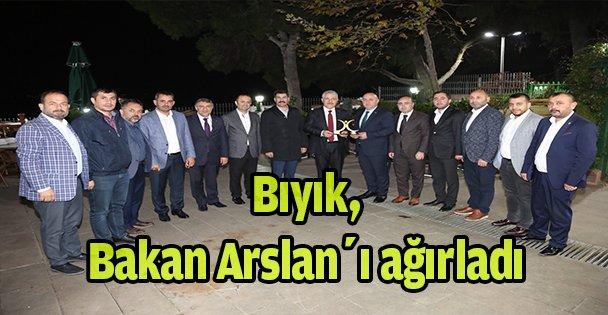Bıyık, Bakan Arslan'ı ağırladı