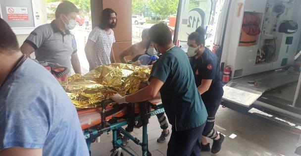 Boğulma tehlikesi geçiren çocuk hastaneye kaldırıldı