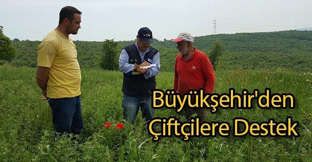 Büyükşehir'den Çiftçilere Destek