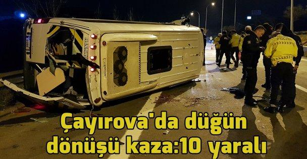 Çayırova'da düğün dönüşü kaza