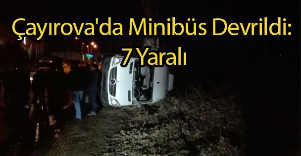 Çayırova'da Minibüs Devrildi: 7 Yaralı
