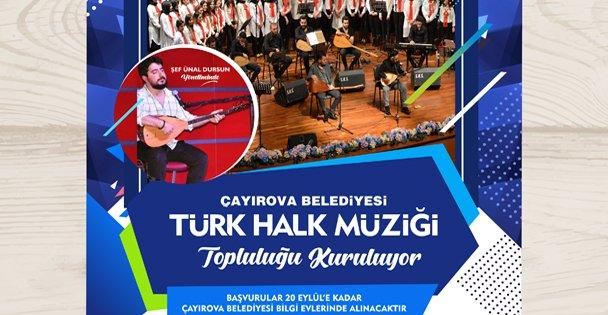 Çayırova'da Türk Halk Müziği Topluluğu Kuruluyor