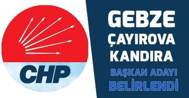CHP'de adaylar belirlendi