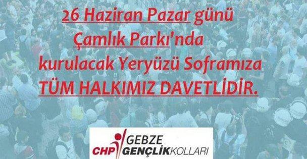 CHPli gençlerden yeryüzü sofrası!