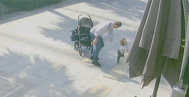 Çocuğa şiddet kameraya yansıdı