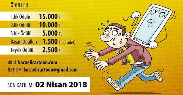 Çocuk ve dijital bağımlılık karikatür yarışması