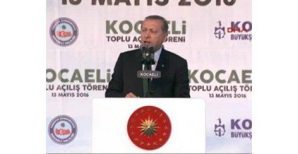 Cumhurbaşkanı Erdoğan İzmit'te