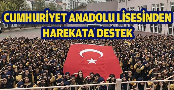Cumhuriyet Anadolu Lisesinden harekâta destek!