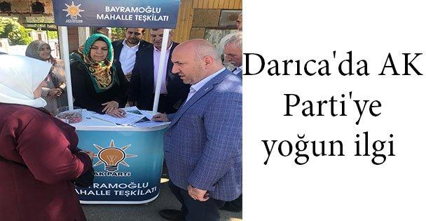 Darıca'da AK Parti'ye yoğun ilgi