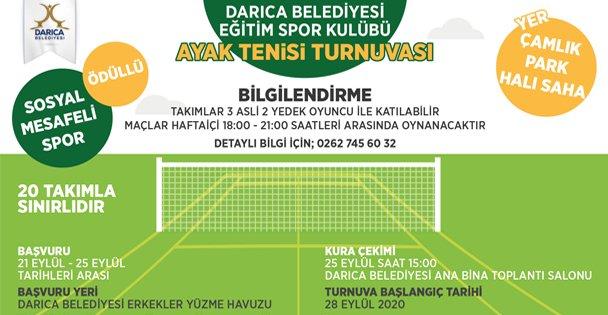 Darıca'da Ayak Tenisi Turnuvası Düzenleniyor