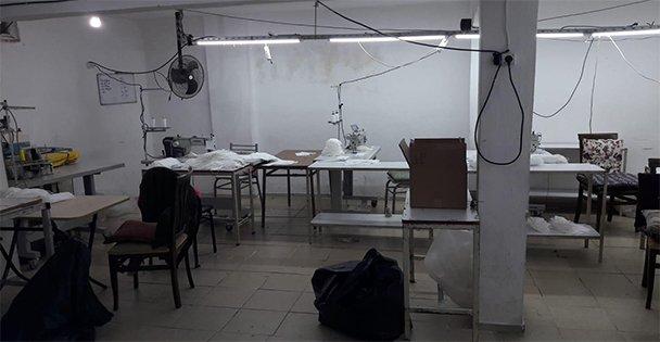 Darıca'da kaçak üretilen 5 bin maske ele geçirildi