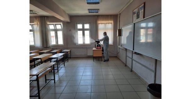 Darıca'da sınav öncesi okullar dezenfekte edildi
