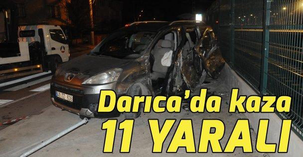 Darıcada trafik kazası :11 Yaralı