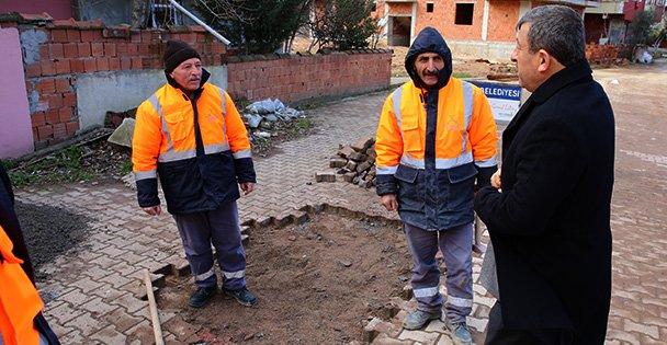 Darıca'da yol bakım ekipleri çalışıyor