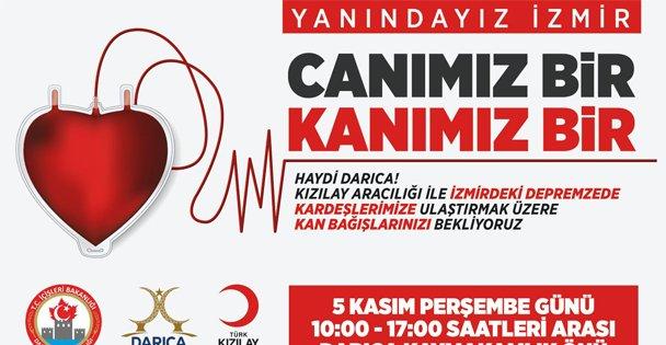 Darıca'dan İzmir İçin Kan Bağışı Kampanyası