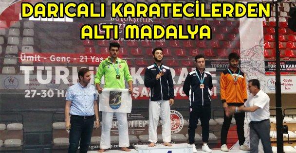 Darıcalı Karateciler Altı Madalya ile Döndü