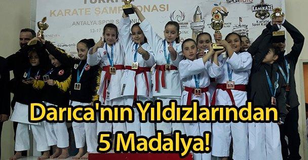 Darıca'nın Yıldızlarından 5 Madalya!
