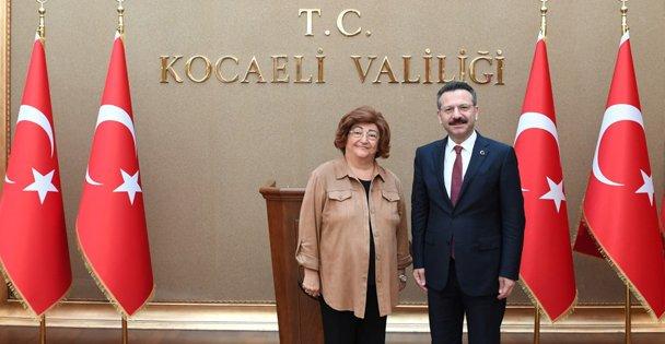 Devlet Bakanı Sayın Güldal Akşit, Kocaeli Valisini Ziyaret Etti