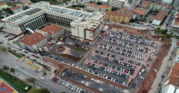 Devlet Hastanesi otoparkına son rötuşlar yapılıyor