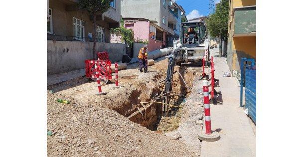 Dilovası Bağdat Caddesinde altyapı çalışmaları tamamlandı