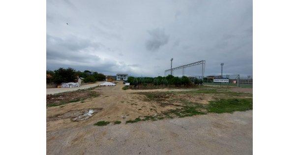 Dilovası Çerkeşli köyüne basketbol ve voleybol sahası