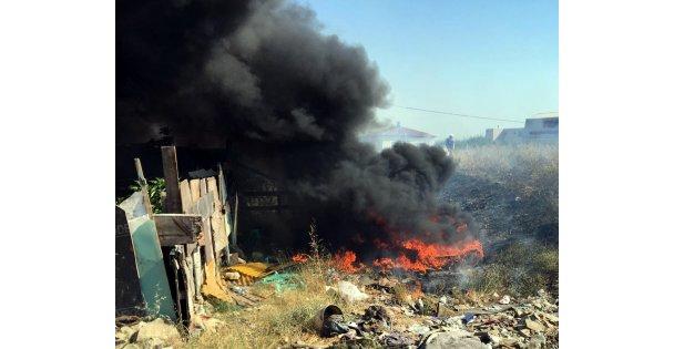 Dilovası'nda atık yangını