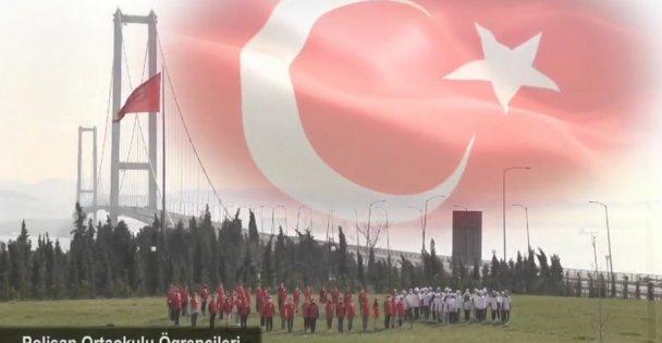 DİLOVASI'NDA İSTİKLAL MARŞI COŞKUSU